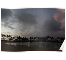 Tropical Sky and Palm Trees - Hawaiian Sunset Poster