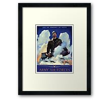 O'Er The Ramparts We Watch -- Army Air Forces Framed Print