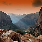 zion park utah mountains landscape scenic sunset by spitfirebbmf