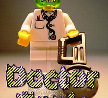 Doctor Toxic with Chainsaw, Custom LEGO® Minifigure, by 'Customize My Minifig' by Chillee