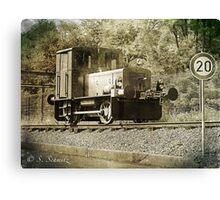 Old steam train  Canvas Print