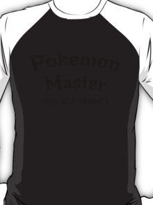 Self Trained Pokemon Master - Black T-Shirt