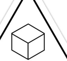 Delta Cubes (Greendale chapter) tee Sticker