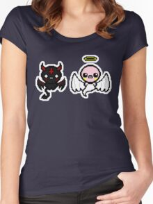 The Binding of Isaac - Angel and Devil Women's Fitted Scoop T-Shirt