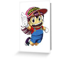 Arale Dr Slump Greeting Card
