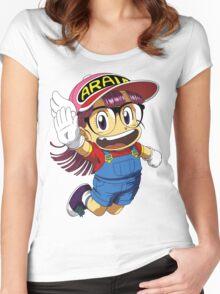 Arale Dr Slump Women's Fitted Scoop T-Shirt