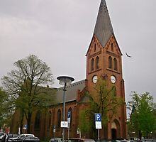 A TYPICAL CHURCH IN ROSTOCK by konkan