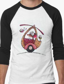The Helicopter Men's Baseball ¾ T-Shirt