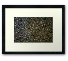 Textures of the Creek Bottom Framed Print