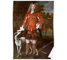 Portrait of Kenneth Sutherland, 3rd Lord Duffus (d.1732), by Waitt, Richard (fl.1708-30)  Poster