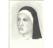 Nun - Pencil Portrait 2 Photographic Print