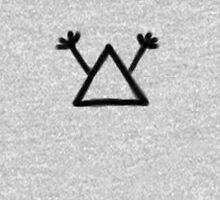 Hobo Symbol: Man with gun (black print) Unisex T-Shirt