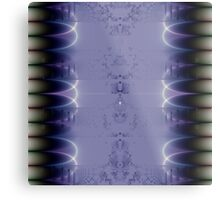 Purple Ribbon Metal Print