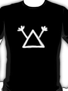 Hobo Symbol: Man with gun (white print) T-Shirt