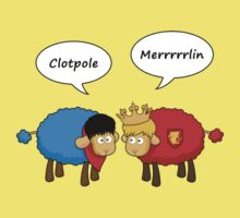 Sheep Merlin  and Arthur... Merrrrrrlin Kids Tee