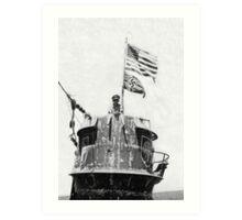 Old Glory Flies over the U-505 1944 (photo) Art Print