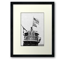 Old Glory Flies over the U-505 1944 (photo) Framed Print