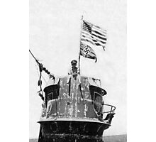 Old Glory Flies over the U-505 1944 (photo) Photographic Print