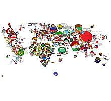 Polandball World Photographic Print