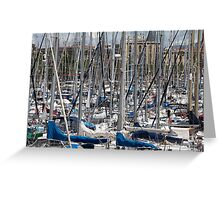 yacht masts    Greeting Card