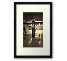 Metro Red Line Framed Print