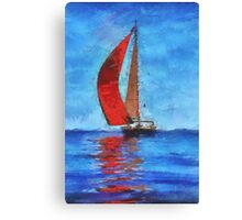 Water boarding while Rich Canvas Print