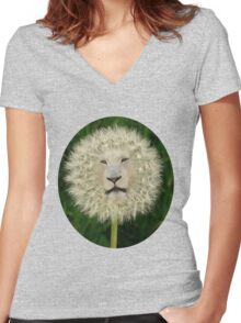 ☝ ☞DANDELION TEE SHIRT~DANDY LION TEE SHIRT LOL ☝ ☞ Women's Fitted V-Neck T-Shirt