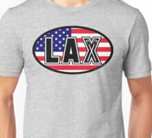 Lacrosse LAX Oval America Unisex T-Shirt