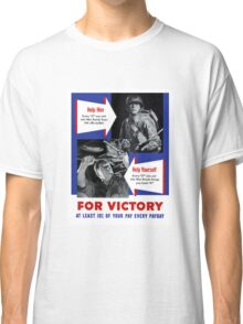 Help Him For Victory -- WWII Classic T-Shirt