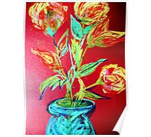 ROSES IN A BLUE JAR 2  Poster