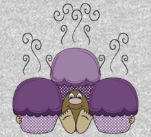Cute Monster With Purple Frosted Cupcakes One Piece - Long Sleeve