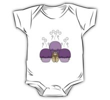 Cute Monster With Purple Frosted Cupcakes One Piece - Short Sleeve