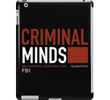 criminal minds logo iPad Case/Skin