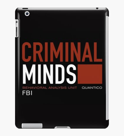 criminal minds logo iPad Case/Skin