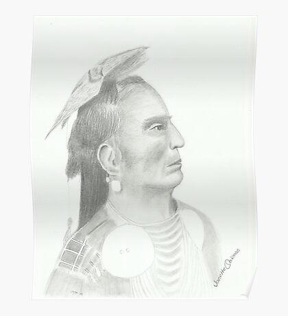 Native American - Pencil Portrait 3 Poster