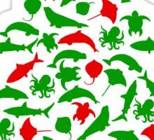 Sea Animal Christmas Tree Sticker