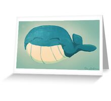 Happy Whale Greeting Card