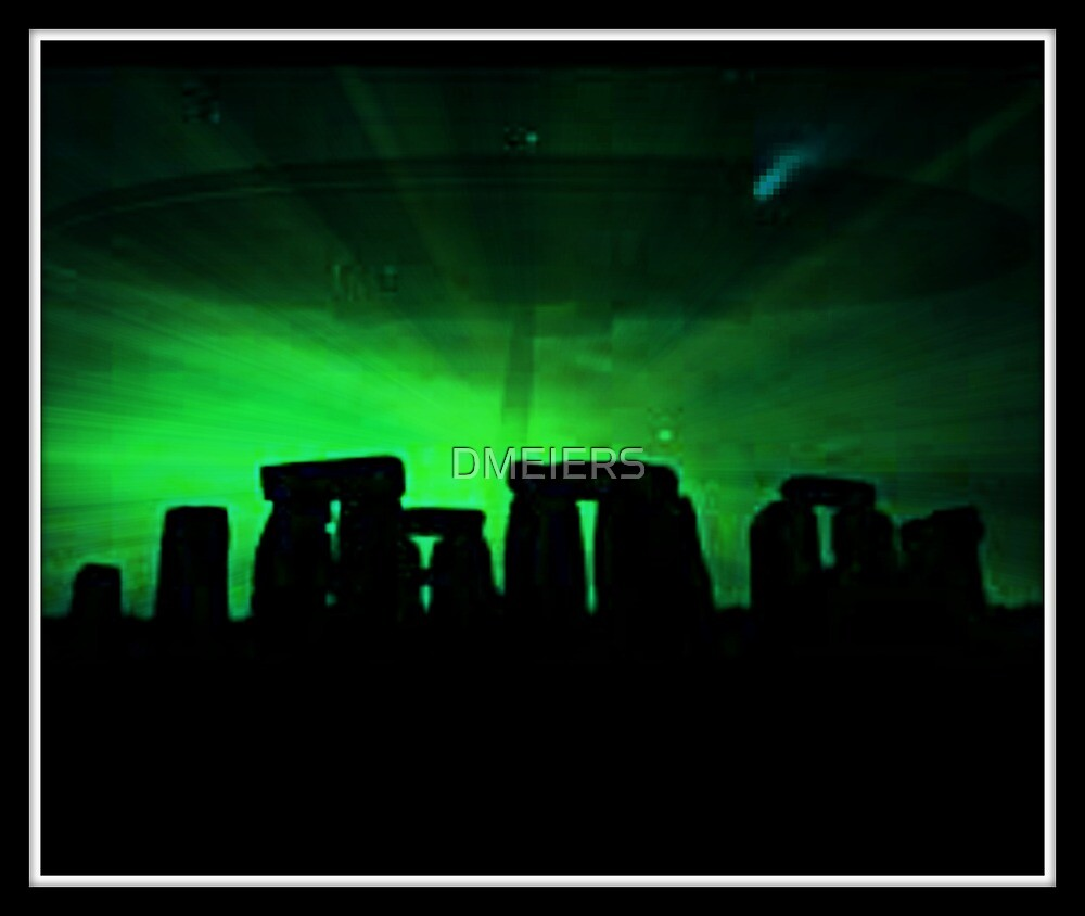 Stonehenge and ufo by DMEIERS