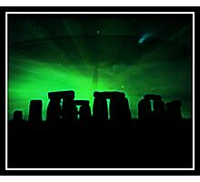 Stonehenge and ufo Photographic Print