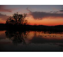 Reflection of sunset clouds Photographic Print