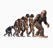 Bigfoot Evolution Kids Tee