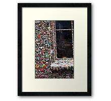 Gum Wall Seattle Framed Print