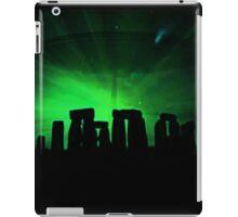 Stonehenge and ufo iPad Case/Skin