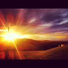 Sunrise from Woodhill Mt. NSW Australia by toddedenborough