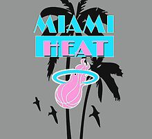 Miami Heat Vice style iPhone case by Fl  Fishing