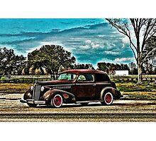 Lone Car Texas Photographic Print
