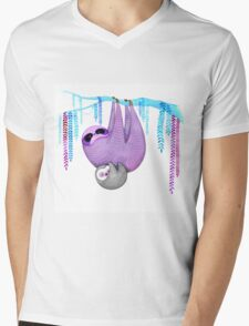 Colorful Sloths Mens V-Neck T-Shirt