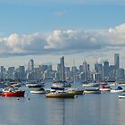 Melbourne City Skyline by PollyBrown