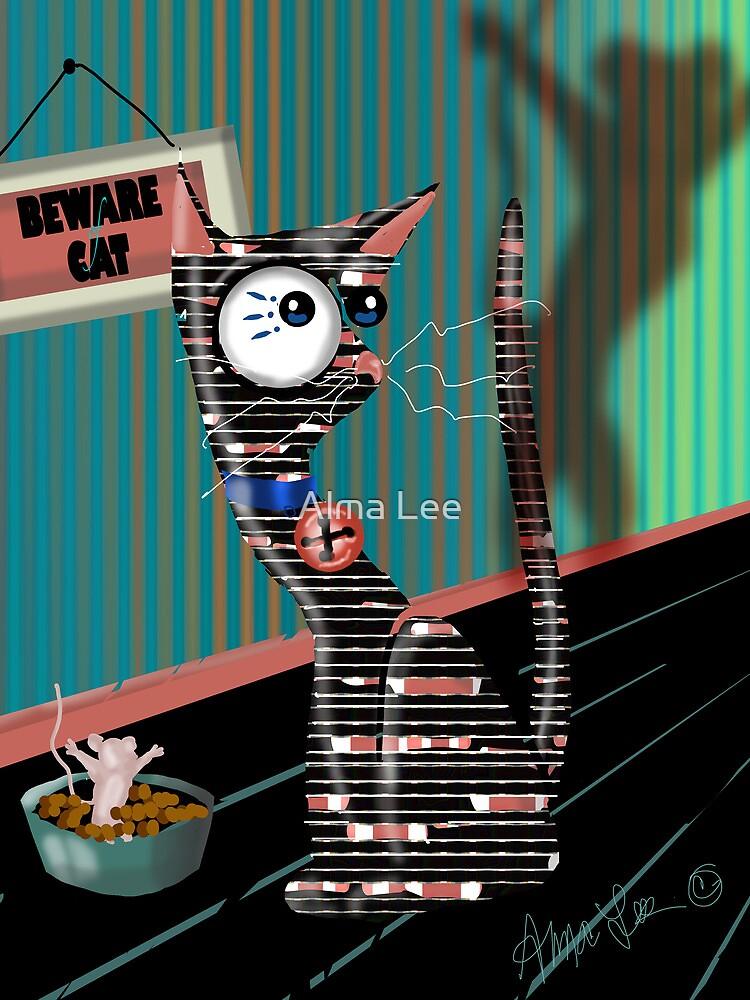 Retro Scaredy Cat by Alma Lee