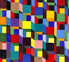 Abstract Art Study Colorful Blocks by Oldetimemercan